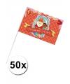 50x Sinterklaas zwaaivlaggetjes decoratie