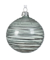 6x Mintgroene kerstballen transparant 8 cm