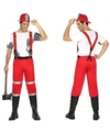 Brandweer kostuum met bretels voor heren