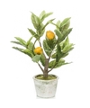 Citroenbomen-citrusbomen kunstplanten 45 cm in betonnen plantenpot