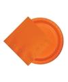 Feest decoratie pakket 8 oranje Holland supporter-fan bordjes en 20 servetten