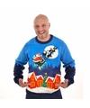 Foute kersttrui met verlichting Sleigh Ride