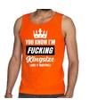 Fucking Kingsize tanktop-mouwloos shirt oranje heren