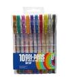 Gekleurde gel kleur pennen met glitter 10 stuks