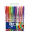 Gekleurde gel kleur pennen neon 10 stuks
