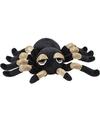 Goud met zwarte spinnen knuffels 13 cm knuffeldieren