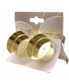 Gouden waxinelichthouders 4 stuks
