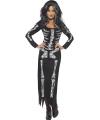 Halloween kostuum skelet jurk voor dames