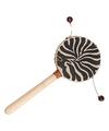 Handtrommel met zebraprint 20 cm