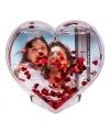 Hartvormig 3D fotolijstje 9 cm
