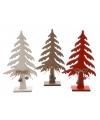 Houten decoratie kerstboom bruin 25 cm