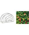 Kerst servettenhouder inclusief 20 servetten versierde kerstboom print