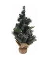 Kerstboom met decoratie groen 50 cm