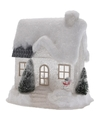 Kerstdorp kersthuisje 25 cm wit type 1 met LED lampjes
