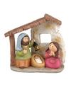 Kerstkribbe voor kinderen met 3 figuren