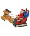 Kerstman decoratie beeldjes 8 cm