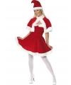 Kerstvrouw jurk rood
