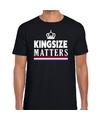 Kingsize matters t-shirt zwart voor heren
