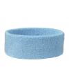 Lichtblauwe hoofd zweetband