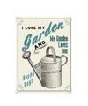 Metalen tuin plaatje I Love My Garden 15 x 20