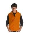 Mouwloze fleece sport vesten oranje voor heren