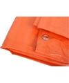 Oranje afdekzeil-dekkleed 6 x 8 m