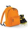 Oranje rugtas reistas met voorvak 14 liter voor kinderen