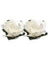 Papieren decoratie bloemetjes wit 1,5 cm