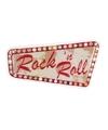 Rock and Roll muur decoratie 33x60 cm