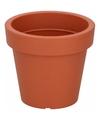 Ronde oranje kunststof plantenpot 13 cm