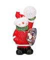 Sneeuwpop met LED-verlichting 17 cm