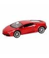 Speelgoed Lamborghini Huracan LP610-4 rood Welly autootje 12 cm