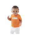 The king t-shirt oranje Koningsdag baby-peuter