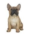 Tuinbeeld lichtbruine Franse Bulldog 29 cm