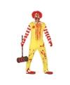 Verkleedkleding horror clown rood-geel voor heren