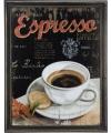 Vintage muurdecoratie koffie espresso